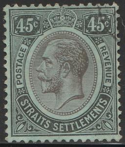 Malaya Straits Settlements 1914 KG V 45c Used MCCA SG#208 CV£22 M1639