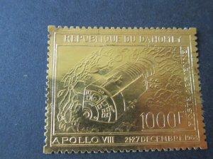 Dahomey 1969 Sc C102 (gold foil) space set MNH
