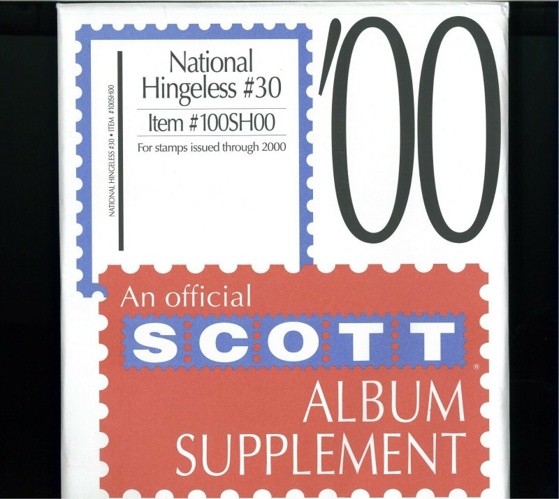 1997-2000 SCOTT National Hingeless Stamp Album Supplements Pages