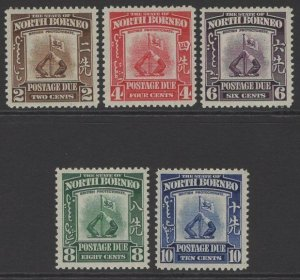 NORTH BORNEO SGD85/9 1939 POSTAGE DUE SET MTD MINT