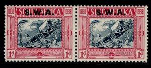 SOUTH WEST AFRICA GVI SG106, 1d + 1d blue & carmine, M MINT. Cat £30.