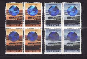 Finland 810-811 Blocks of 4 Set MNH Telecommunications (E)