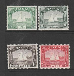 Aden 1937 dhows 1st 4 vals to 2a MM SG 1/4
