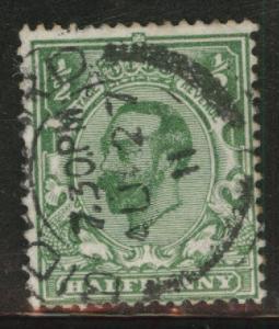 Great Britain Scott 151 KGV half p with 1911 watermark 30