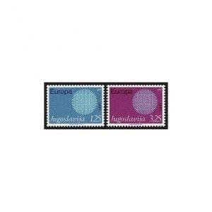 Yugoslavia 1024-1025 two sets,MNH. EUROPE CEPT-1970. Interwoven Threads.