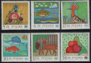 POLAND, (6) SET, 2556-2561, MNH, 1983, Anniv. of UN conference on human envir.