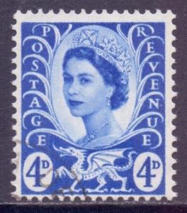 GB Regional Wales Scott 2 - SG W2, 1958 4d Blue used