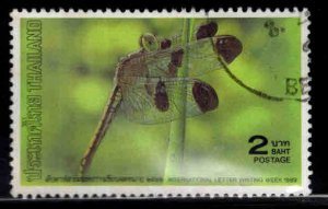 THAILAND Scott 1323 Used Dragonfly stamp