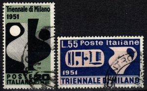 Italy #582-3 F-VF Used CV $43.75 (X3558)