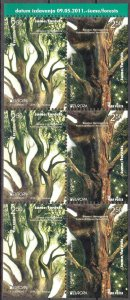 Bosnia 2011 Europa CEPT Forests Sheet from Booklet MNH