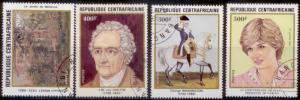 Central African Republic 1982 SC# 517-9 CTO L282-3