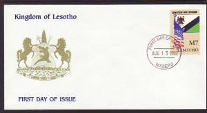 Lesotho 1310 United We Stand U/A FDC