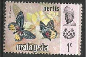 PERLIS, 1971, MNH 1c, Butterfly  Scott 47