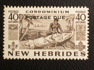 New Hebrides (British) Scott #J14 unused