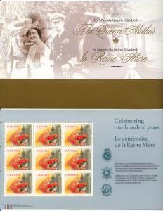 Canada - 2000 Queen Mother's Birthday Full Pane mint - #1856