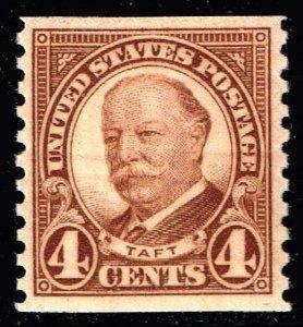 US STAMP #687 – 1930 4c Taft, brown, coil MNH/OG