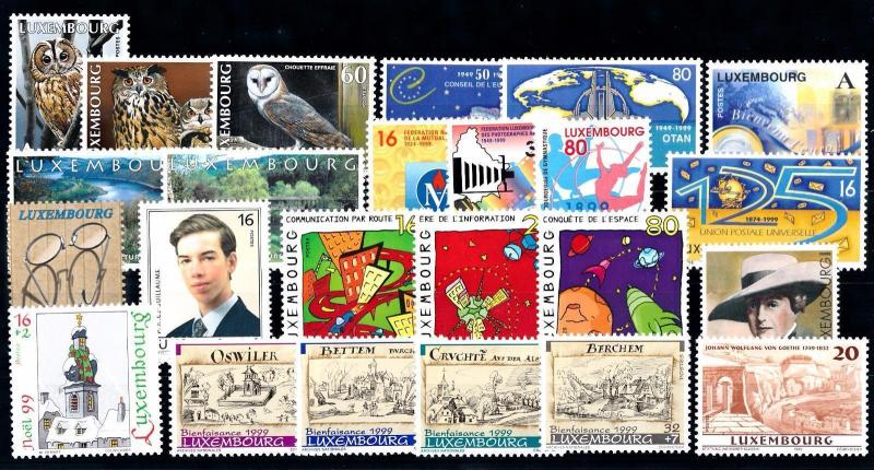 Luxembourg Luxemburg 1999 Complete Year Set  MNH