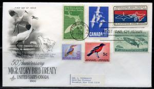 UNITED STATES 1966 BIRD TREATY COMBINATION FIRST DAY COVER II  GREAT FRANKING