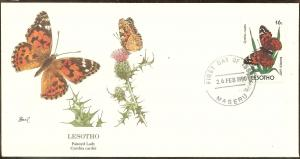 Lesotho FDC SC# 766 Painted Lady Butterfly L55