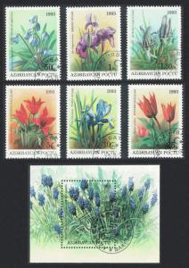 Azerbaijan Flowers 6v+MS CTO SG#105-MS111 SC#379-385