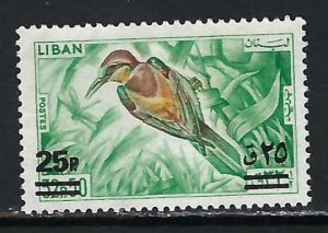 LEBANON 459 MNG BIRD CH1-77