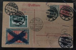 1920 Gelsenkirchen Germany Postal Stationary Postcard Cover To Berlin Sc#95b
