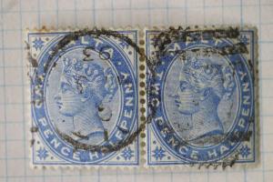 Malta sc#11 used pair 1893