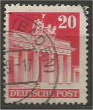 GERMANY, 1948, used 20pf carmine, Brandenburg Scott 646a