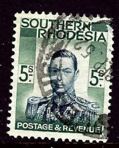 Southern Rhodesia 54 Used 1937 issue short perf    (ap2711)
