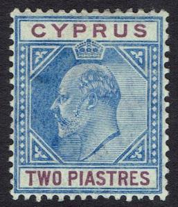 CYPRUS 1904 KEVII 2PI WMK MULTI CROWN CA