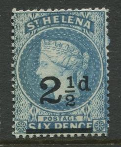 St.Helena - Scott 47 - QV Overprint -1893 - MVLH - Single 2.1/2p on a 6p Stamp