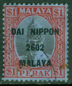 EDW1949SELL : MALAYA Perak Scott #N23 Very Fine, Used with light cancel Cat $375