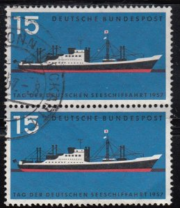 Germany, Sc 767, CTO-H, 1957, Int'l Navigation Day, (AA00990)
