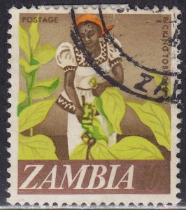Zambia 44 USED 1968 Woman Tobacco Picker