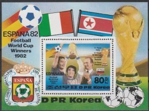 1982 Korea,North 2271/B123 1982 World championship on football of Spain 6,50 €