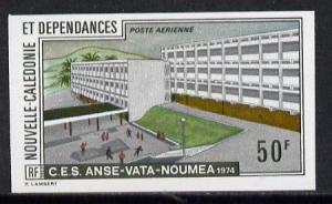 New Caledonia 1974 Scientific Studies (Building) imperf p...