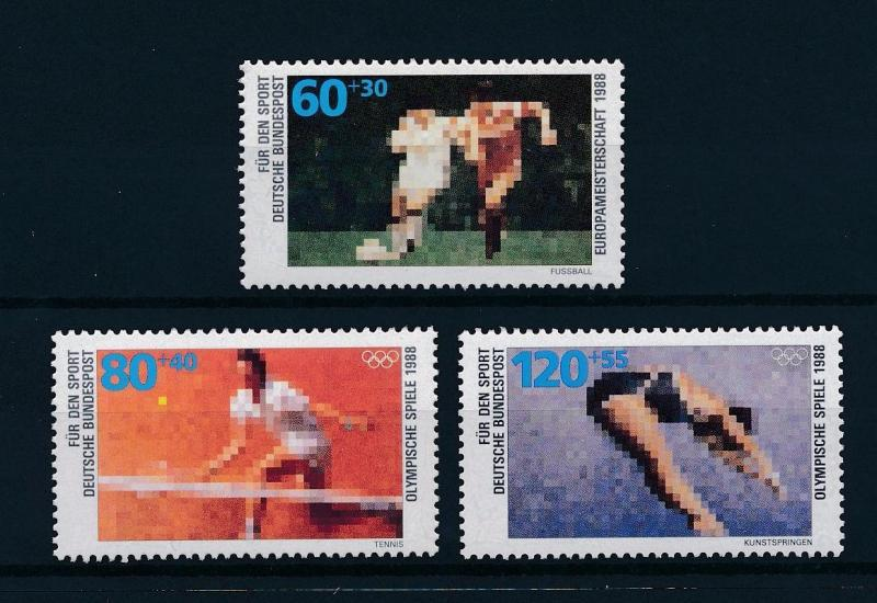 [56183] Germany 1988 Olympic games Tennis Diving Football MNH