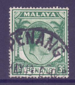 Malaya Penang Scott 5 - SG5, 1949 George VI 3c used