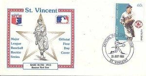 ST. VINCENT 1989 BASEBALL BABE RUTH BOSTON FDC