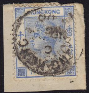 Hong Kong - 1900 - Scott #45 - used on piece - Queen Victoria