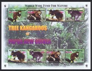 Papua New Guinea MNH S/S 1091 Tree Kangaroos WWF