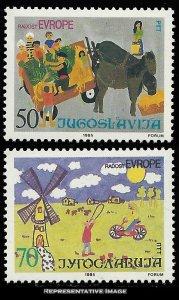 Yugoslavia Scott 1753-1754 Mint never hinged.