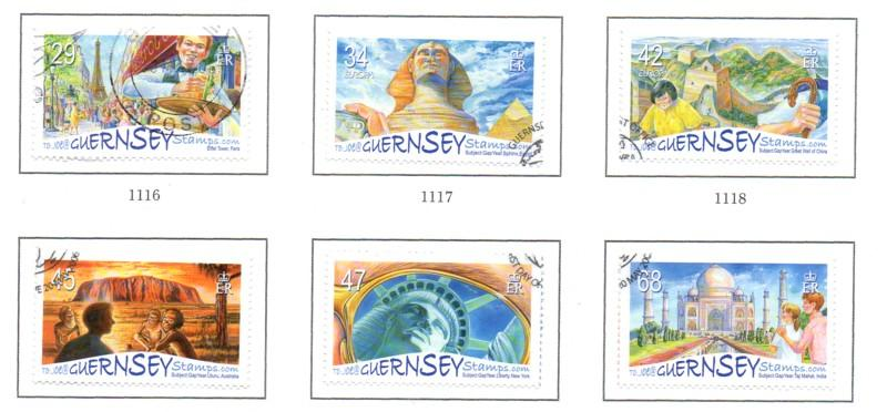 Guernsey Sc 893-8 2006 Europa Tourist Site stamp set used