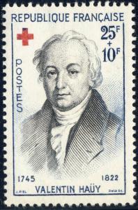FRANCE - 1959 - Yv.1227 / Mi.1271 25fr+10fr Valentin Haüy Croix Rouge - Neuf*