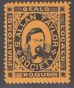 S Allen Taylor BOGUS society One of Two psitions in sheet that is NOT SE nice.