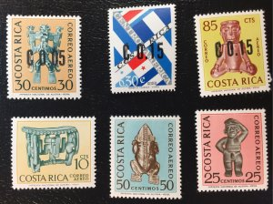 C395-C397, C379-C381 Costa Rica MNHOG Beautiful