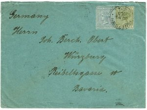 Natal 1900 Pinetown cancel on cover to Germany, from Trappist Monastery