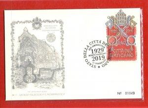 2019 Vatican - Envelope Commemorative 90° Fondazione State Of City Del Vati