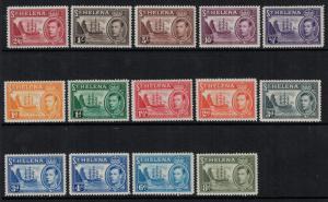 St Helena 1930-40 SC 118-127 LH,NH CV $115