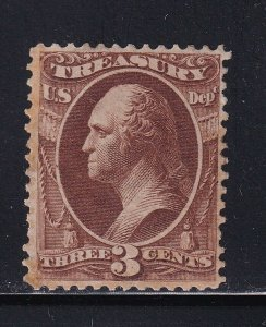 O74 F-VF original gum mint previousl hinged with nice color cv $ 110 ! see pic !